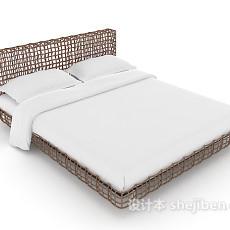 现代铁艺床3d模型下载