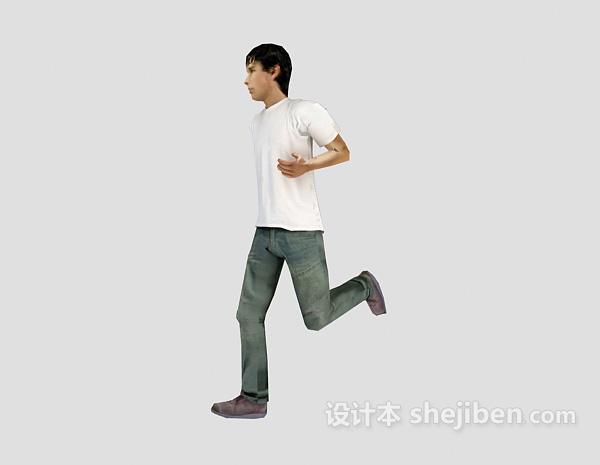 男生跑步3d人物模型下载