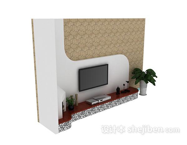 地中海风格电视墙