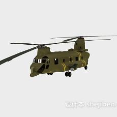 飞机-仿真直升机3d模型下载