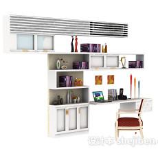 隔断书柜3d模型下载