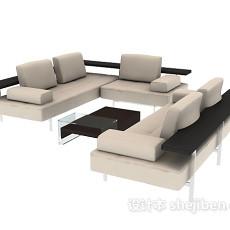 现代转角沙发3d模型下载
