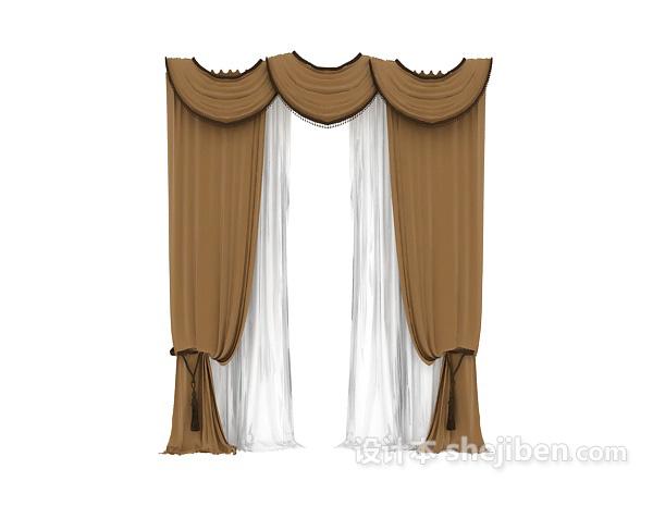 窗帘3dmax窗帘模型下载