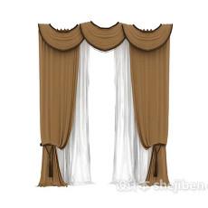 窗帘max窗帘3d模型下载