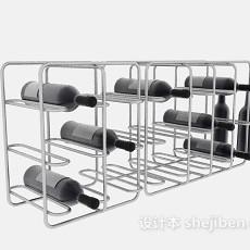 不锈钢酒架3d模型下载