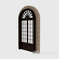 欧式拱形门3d模型下载