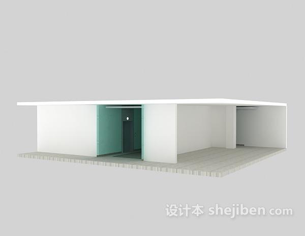 电梯口走廊模型