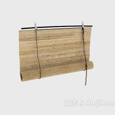 竹子拉绳卷帘3d模型下载