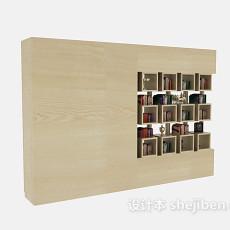 隔断书柜装饰柜3d模型下载