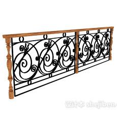 不锈钢栏杆3d模型下载