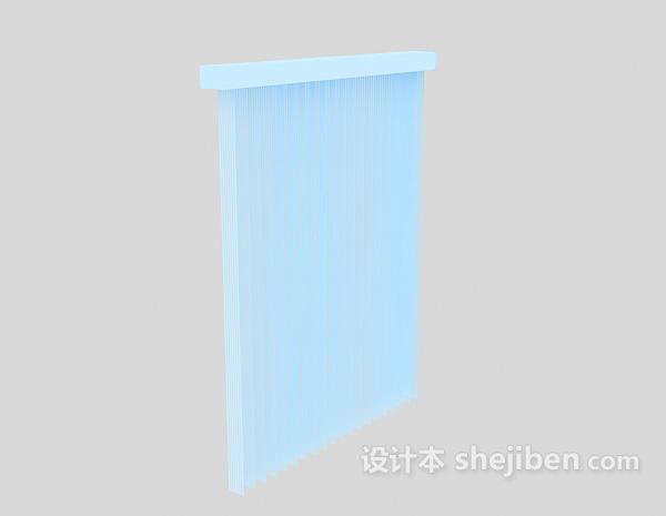 白色百叶窗模型