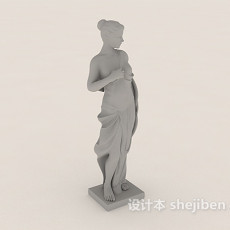 欧洲人形雕塑3d模型下载