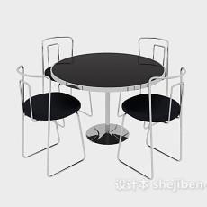 洽谈桌椅3d模型下载