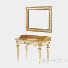 洗手台浴室镜子3d模型下载