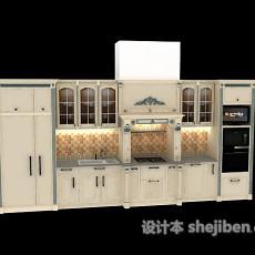 白色厨柜3d模型下载