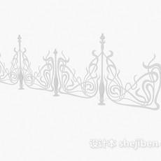 欧式铁艺铁花3d模型下载