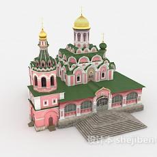 城堡古建3d模型下载