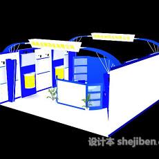人物字画展厅3d模型下载