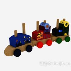 儿童玩具火车 3d模型下载