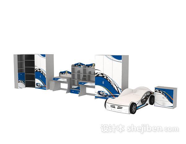小孩床模型-汽车系列
