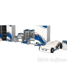 小孩床-汽车系列3d模型下载
