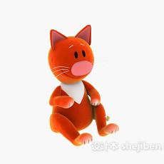 儿童玩具黄猫 3d模型下载