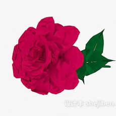 玫瑰花3d模型下载