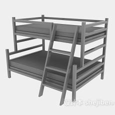 公寓上下铺床3d模型下载