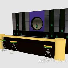 酒吧吧台3d模型下载