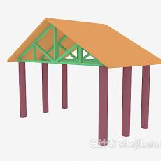 钢架棚3d模型下载