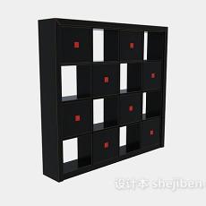 格子玄关装饰柜子3d模型下载