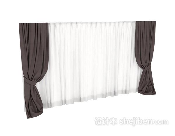 现代窗帘3dmax窗帘模型下载