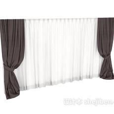 现代窗帘max窗帘3d模型下载