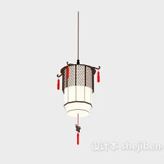 中式灯笼吊灯灯具3d模型下载