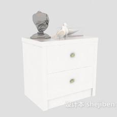 欧式床头柜3d模型下载