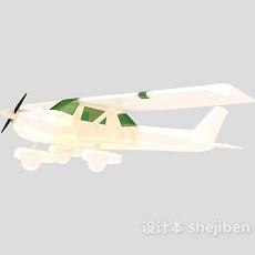 白色飞机-小型飞机24套3d模型下载