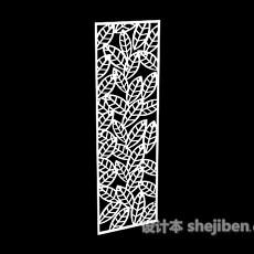 树叶状镂空雕花隔断3d模型下载