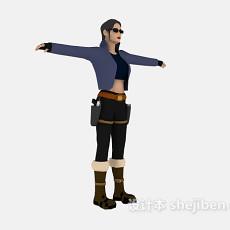 游戏人物角色3d模型下载