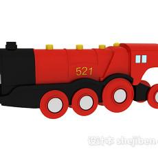 玩具火车头3d模型下载