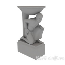 艺术雕像3d模型下载
