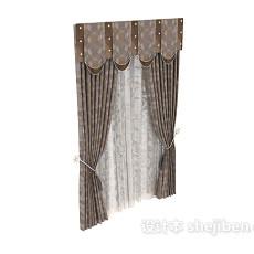 布艺窗帘图片3d模型下载