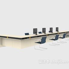办公室接待台3d模型下载