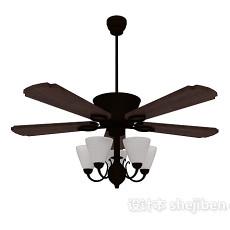 风扇灯3d模型下载