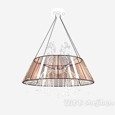 现代中式水晶灯3d模型下载