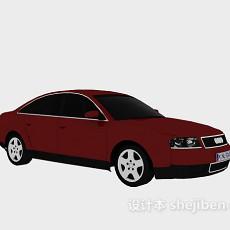 红色车车3d模型下载