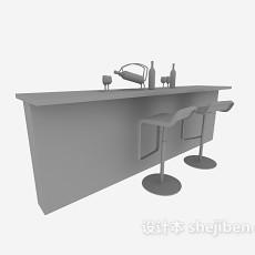 家庭小吧台3d模型下载