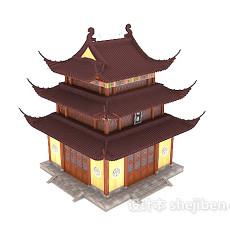 中式风格古建3d模型下载