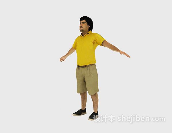 站姿的男人3d人物模型下载