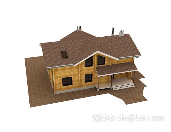 别墅模型3d模型下载