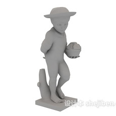石膏雕塑3d模型下载